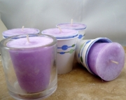 LILAC - 5 Scented Votive Candles - 3oz Paraffin