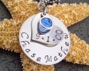 Stainless Steel Customized Hand Stamped Mother's Necklace Perfect for Mother's Day