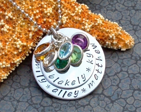 Stainless Steel Hand Stamped Mother's Necklace