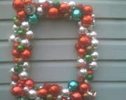Large Vintage Ornament Wreath