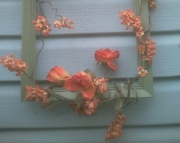 Sage and Peach Wreath