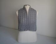 Crocheted Scarf - Classic Grey