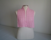 Crocheted Scarf - Perfect Pink