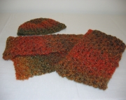 Autumn Harvest Hat and Scarf Set