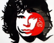 Jim Morrison Hand Cut Vinyl Record Silhouette