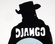 Django Unchained Themed Hand Cut Vinyl Record Silhouette
