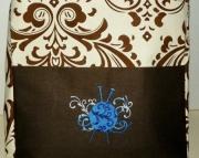 Brown Print Medium Project Bag