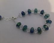 Blue & green beads