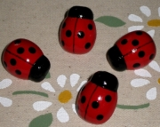 Ladybug Push Pins for Bulletin Board