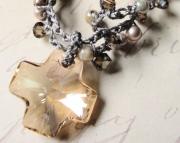 Sandstones Beaded Crochet Necklace