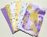 Handmade PaperYellow and Violet Floral