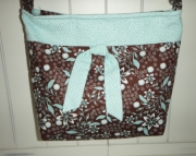 Turquoise & Brown Floral Cross Body Bag (mt)