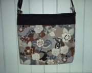 Brown Floral Cross Body Bag