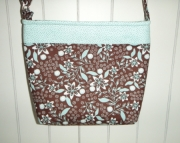 Turquoise & Brown Floral Cross Body Bag (m)