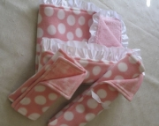 Baby Blanket Set Pink Cotton Candy