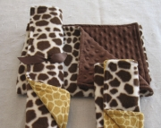 Animal Baby Blanket Set Giraffe Print