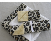 Animal Baby Blanket Set Cheetah Print