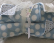 Baby Blanket Set Baby Blue