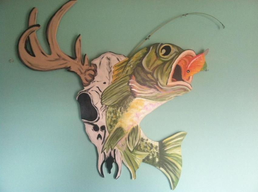 Wall art hand painted : Hand painted wood wall decor handmade michigan