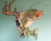 Hand Painted Wood Wall Decor
