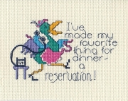Made a Reservation Cross Stitch