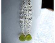 Green Leafy Earring