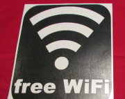 Free WiFi Store Front Window Decal