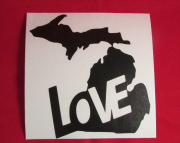 Love Michigan Decal