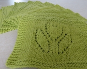 2 Dishcloth Knitted Tulip Hot Green