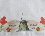 Kitchen Towel Dutch Theme Windmill Welkom