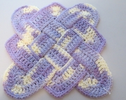Sailors Knot Dishcloth Hotpad Doily Spring Swirl