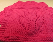 2 Dishcloth Knitted Tulip Hot Pink
