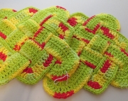 2 Sailors Knot Dishcloth Hotpad Doily Peace  Hot Green