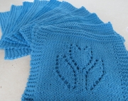 2 Dishcloth Knitted Tulip Hot Blue