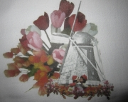 Kitchen Towel Cotton Dutch Theme background Windmill Holland Michigan