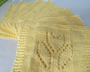 2 Dishcloths Knitted Tulip Yellow