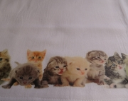 Cotton Kitchen Towel with Kittens Cats