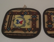 Texas Potholders with Southwestern Border