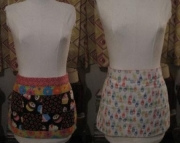 Spring Flowers and Cupcakes Reversible Apron