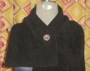 Fleece Lined Flocked Wool Scole