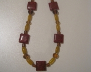 Red Jasper and Yellow Statement Necklace