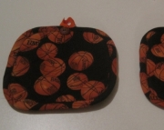 Quilted Basketball Potholders