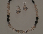Pink Cadillac Necklace and Earrings Set