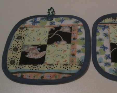 Kittens at Play Quilted Potholders