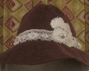 Sugar Plum Fancy Day Ultra Suede Hat W/ Swarovski Rhinestone Crystals
