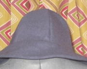 Nautical Blue Wool Twill Rimmed Hat