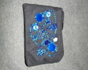 Black Bag with Blue Beading