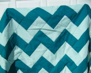 Green Chevron Quilt