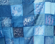 Denim squares chenilled