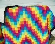 Bright bargello quilt